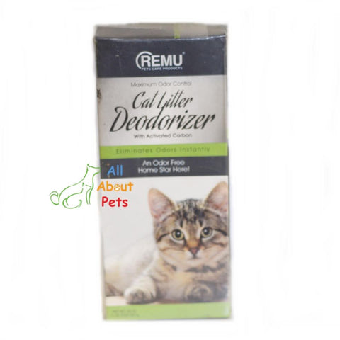 Image of Remu Cat Litter Deodorizer, Activated carbon eliminates odors, prevents urine clumps from sticking to litter available onlline at allaboutpets.pk in pakistan.