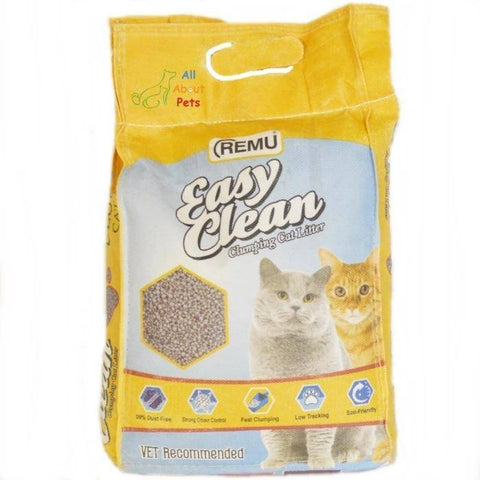 Remu Easy Clean Cat Litter 5L, Lasts longer with 2x better absorption, Superior Odor Control, Harder Clumping for Easier Scooping, 100% Natural and Eco-Friendly available at allaboutpets.pk in pakistan.