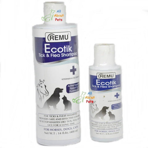 Remu Ecotik Tick & Fleas Shampoo for Dogs, Cats & Horses, Persian cat shampoo available online at allaboutpets.pk in pakistan.