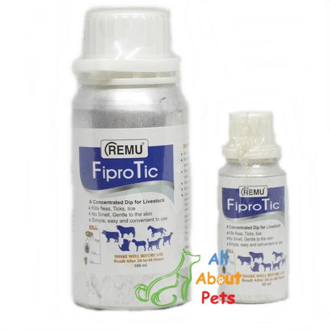 Remu FiproTick for dogs and cats kills fleas, ticks, lice available online at allaboutpets.pk in pakistan.