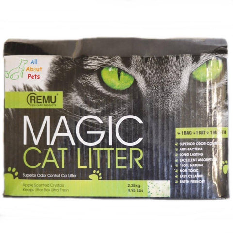 Remu Magic Cat Litter Silicone 2.5 Kg Anti Bacterial Long Lasting Excellent Absorption available at allaboutpets.pk in pakistan.