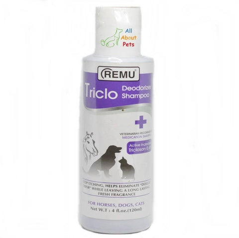 Remu Triclo Deodorizer Shampoo For Dogs available online at allaboutpets.pk in pakistan.