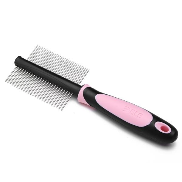 DELE Double-sided Comb For Cats & Dogs, pink pet brush double sided, dog brush, cat brush available at allaboutpets.pk in pakistan.