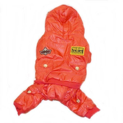 Image of Dog rain coat Airman Fleece Hooded Jumpsuit Waterproof  available at allaboutpets.pk in pakistan