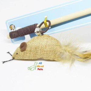 cat teaser Toy Mouse with stick available at allaboutpets.pk in pakistan.