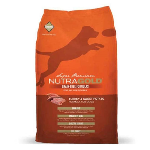 NutraGold - Turkey & Sweet Potato Grain Free dog food 2.25kg available at allaboutpets.pk in pakistan.