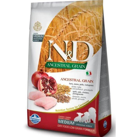 Farmina N&D Low Grain Chicken & Pomegranate Puppy food 12 KG available at allaboutpets.pk in pakistan.