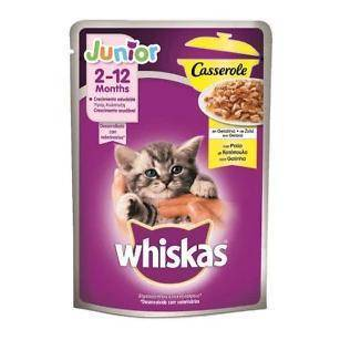 Whiskas Casserole Poultry Selection in Jelly Kitten Food 85g, with chieken, duck, poultry and turkey flavours available at allaboutpets.pk in Pakistan