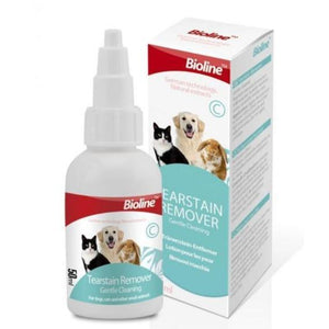 Bioline Tear Stain Remover 50ml available at allaboutpets.pk