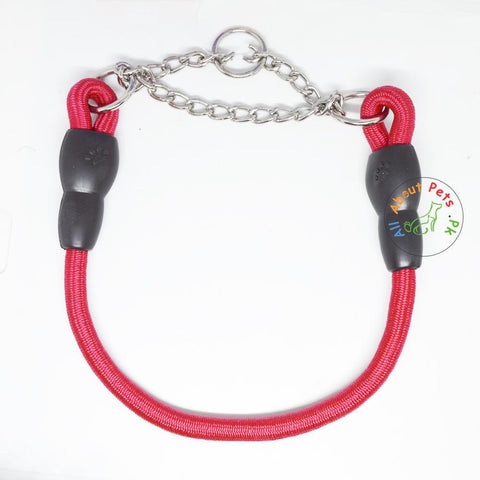 Image of Pet Touch Dog Choke Rope Collar red color available at allaboutpets.pk in Pakistan