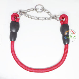 Pet Touch Dog Choke Rope Collar red color available at allaboutpets.pk in Pakistan