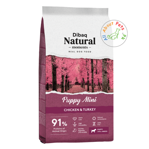 DIBAQ natural moments puppy mini dog food available at allaboutpets.pk in Pakistan