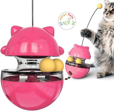 Cat Tumbler & Food Dispensing Toy Cat IQ Treat Ball Training available at allaboutpets.pk in Pakistan