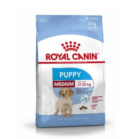 Royal Canin Medium Puppy Food 4kg available online in pakistan at allaboutpets.pk