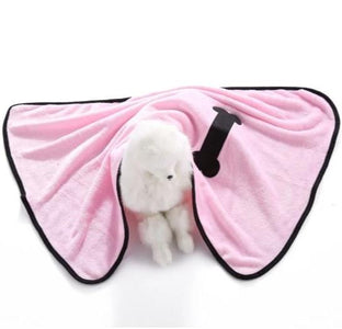 Dog Blankets for Small Dogs Super Soft Solid Color Embroidery Bone Pet Blanket for Cat or Dog Bed, Warm Coral Fleece in Mat Pink Color available at allaboutpets.pk in pakistan