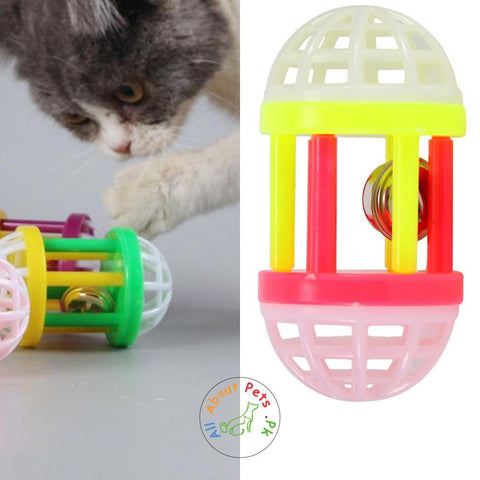 Cat Toy Dumbbell with Bell available at allaboutpets.pk