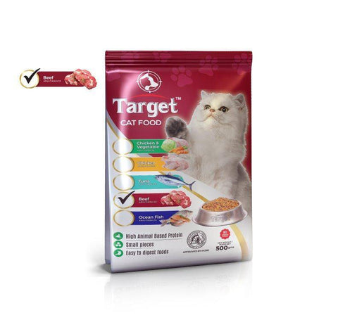 target cat food beef 500g, persian cat food available at allboutpets.pk in pakistan
