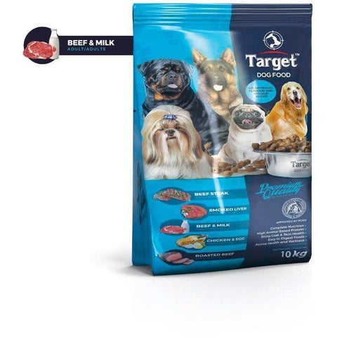target dog food beef and milk 10kg, available at allboutpets.pk in pakistan