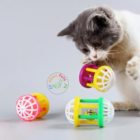 Cat Toy with bell Six-Column Dumbbell available at allaboutpets.pk