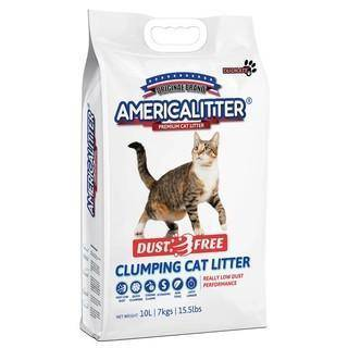 America Litter Dust Free Clumping Litter 10L available at allaboutpets.pk