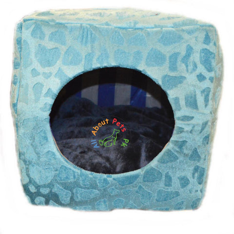Image of Cat Bed & House 2 in 1 Soft and Comfortable sky blue available at allaboutpets.pk in Pakistan
