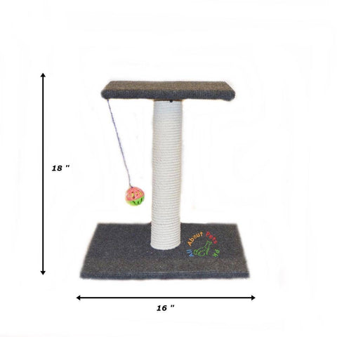 Cat Scratch Post single pole with top and  Ball, cat tree available in Pakistan at allaboutpets.pk