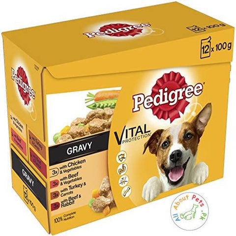 Pedigree Dog Wet Food Vital Protection Gravy 100g available at allaboutpets.pk in Pakistan