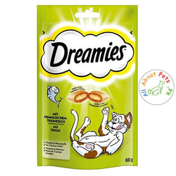 Dreamies Cat Treats, Tasty Snacks with Heavenly Tuna Flavor  60 g available at allaboutpets.pk in Pakistan