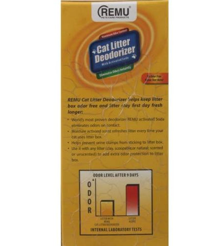 Image of Remu Cat Litter Deodorizer, Active Soda eliminates odors, prevents urine clumps from sticking to litter available at allaboutpets.pk in pakistan.