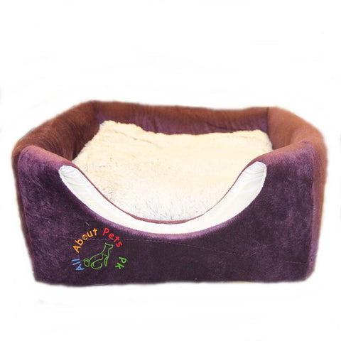Image of Cat Bed & House 2 in 1 Soft and Comfortable brown and white color available at allaboutpets.pk in Pakistan