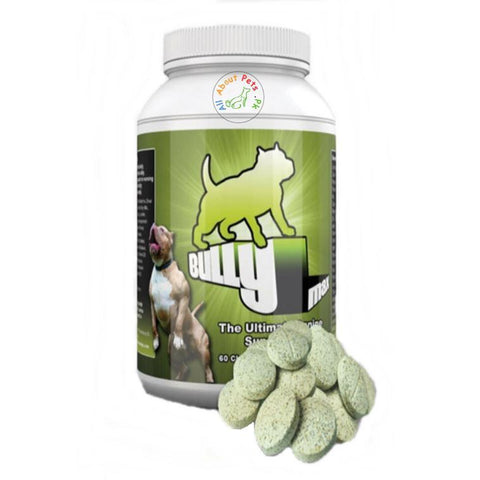 Bully Max Muscle Builder 60 tablets bottle available at allaboutpets.pk in pakistan