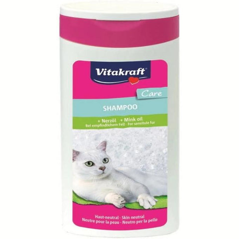 VitaKraft Cat Shampoo Mink Oil 250 ml, Persian cat shampoo available at allaboutpets.pk in pakistan.