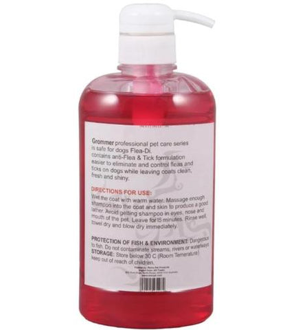Image of Remu Dog Groomer Shampoo strawberry Conditioner 600ml, Smooth & Shiny Coat, Flea & Tick Control available at allaboutpets.pk in pakistan.
