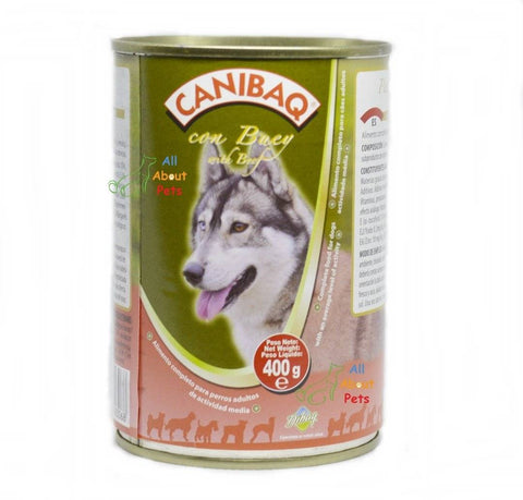 Image of Dibaq Canibaq Pate Wet Food Beef 400 Grams, dibaq dog wet food available online at allaboutpets.pk in pakistan.
