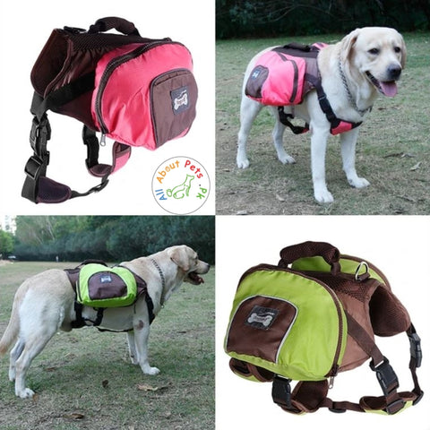 Luxury Pet Outdoor Backpack, Dog Adjustable Saddle Bag Harness available at allaboutpets.pk in Pakistan