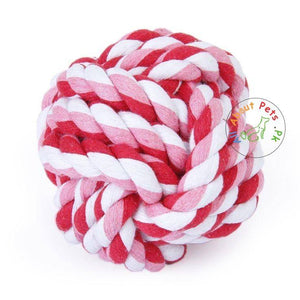 Vitakraft Geknotet Ball pink color, dog chew toy available at allaboutpets.pk in pakistan.