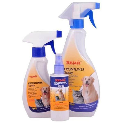Image of Remu Frontliner Tick and Flea Spray available at allaboutpets.pk in pakistan.