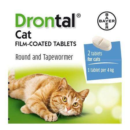 Drontal cat wormer tablets for round and tapewormer, cat dewormer available at allaboutpets.pk in pakistan