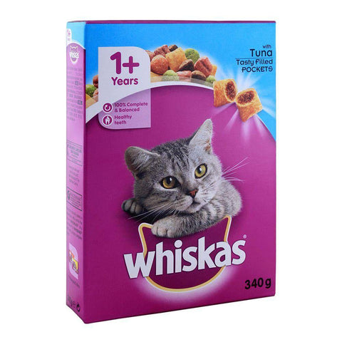 WHISKAS Dry Food With Tuna 340g available at allaboutpets.pk in pakistan.