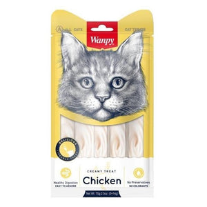 Wanpy Creamy Treat for cats chicken flavor available at allaboutpets.pk in Pakistan