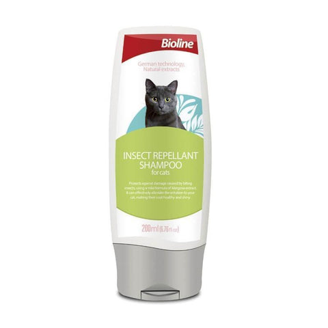 Bioline Insect Repellant Shampoo For Cats available at allaboutpets.pk