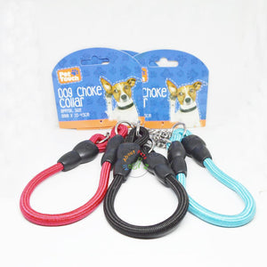 Pet Touch Dog Choke Rope Collar red, black & skype blue color available at allaboutpets.pk in Pakistan