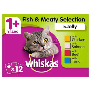Whiskas  Fish & Meaty Selection in jelly 100g available online in pakistan at allaboutpets.pk