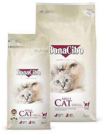 BONACIBO Adult Cat Chicken & Rice With Anchovy 2kg available at allaboutpets.pk