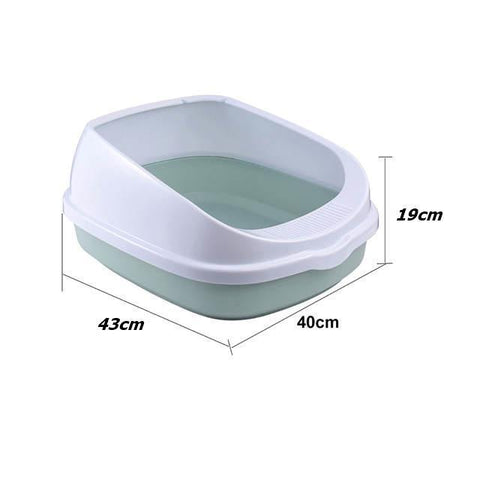 Cat Litter Tray with Scoop Semi-Enclosed available in pakistan at allaboutpets.pk