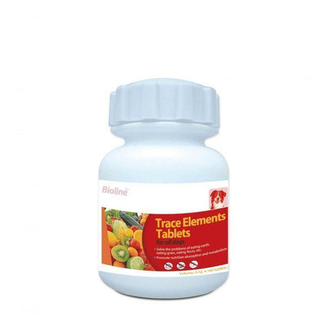 Bioline Trace Elements 160 Tablets available at allaboutpets.pk
