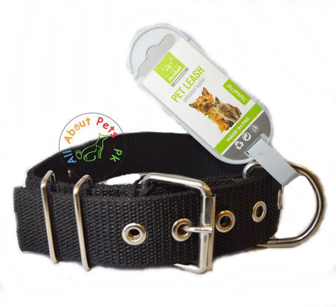 Image of Nunbell Extra Strong Nylon Dog Collar black color available at allaboutpets.pk