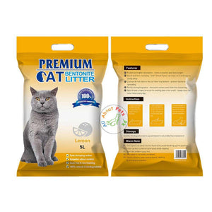 Premium imported bentonite lemon-scented cat litter 99% dust-free, suitable for kittens, adult cats, and senior cats available at allaboutpets.pk in Pakistan