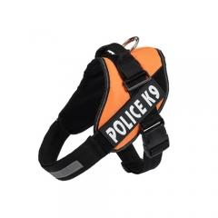 Image of Orange Police K9 Harness with efficient reflective strip orange color available at allaboutpets.pk in pakistan.