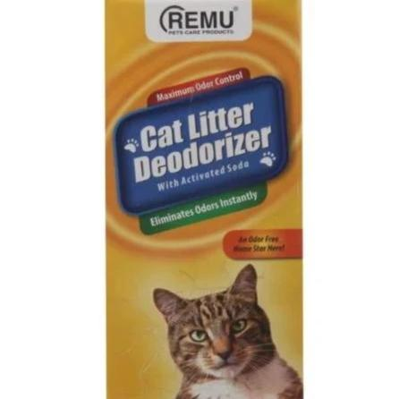 Remu Cat Litter Deodorizer, Active Soda eliminates odors, prevents urine clumps from sticking to litter available at allaboutpets.pk in pakistan.